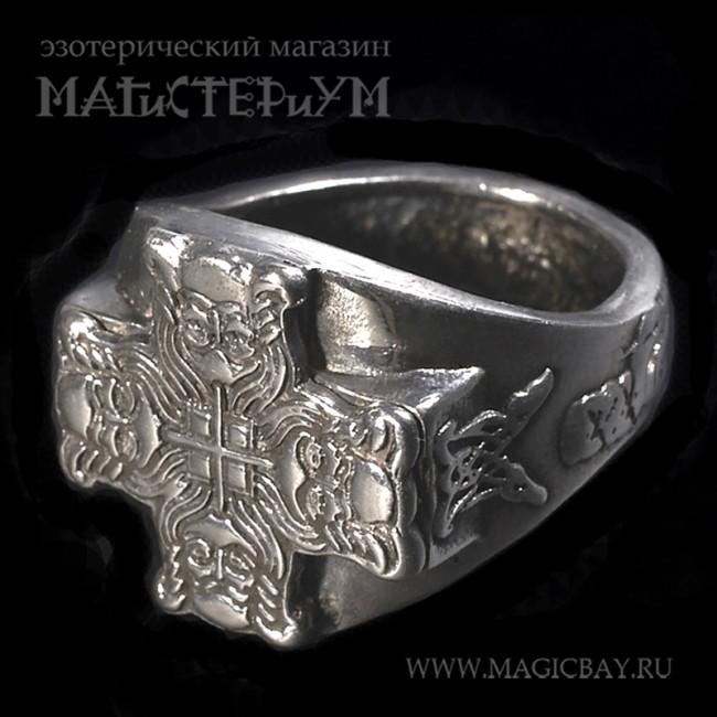 кольцо печатка мужская серебро
